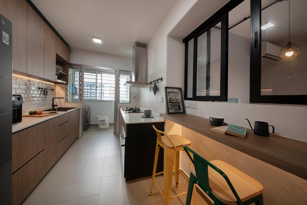 Contemporary, HDB, Kitchen, Sembawang Crescent, Interior Designer, ELPIS Interior Design