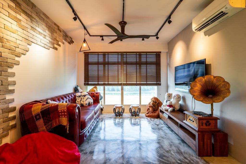Eclectic, HDB, Living Room, Edgedale Plains, Interior Designer, MADE Artisan ID