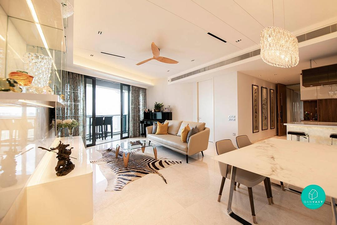 Condo renovation at Duo Residences