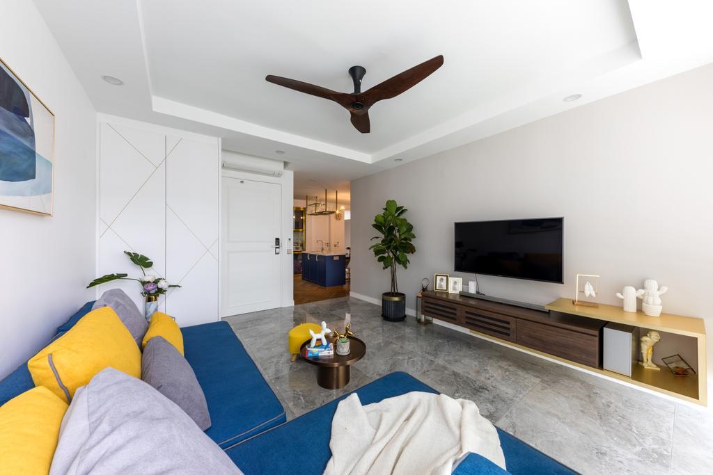Contemporary, Condo, Living Room, Gardenvista, Interior Designer, Space Define Interior