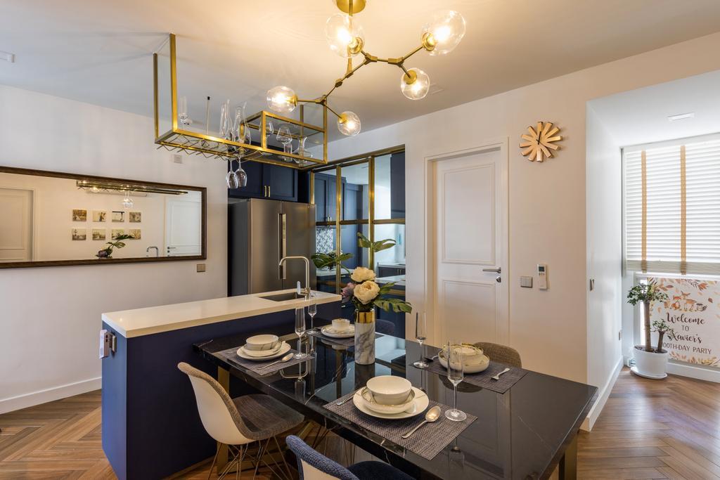 Contemporary, Condo, Dining Room, Gardenvista, Interior Designer, Space Define Interior