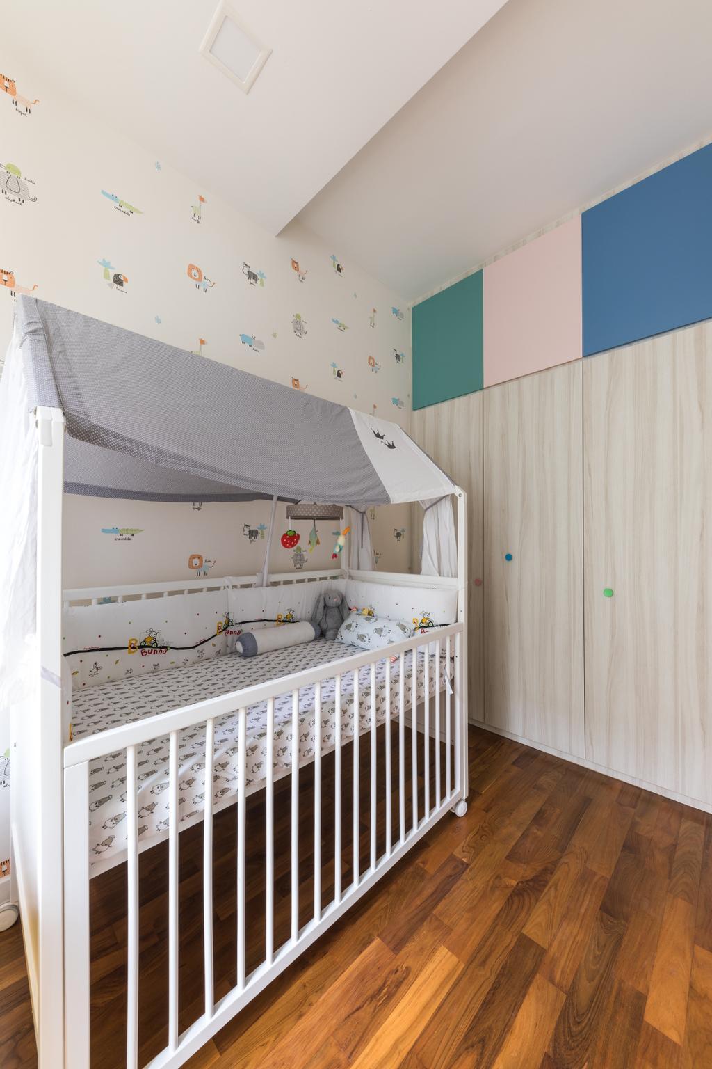 Contemporary, Condo, Bedroom, Gardenvista, Interior Designer, Space Define Interior, Crib, Nursery, Cot, Kids Room