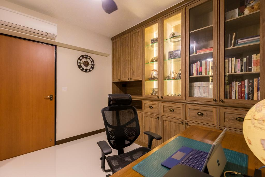 Contemporary, HDB, Study, Bedok North Street 4, Interior Designer, Dyel Design