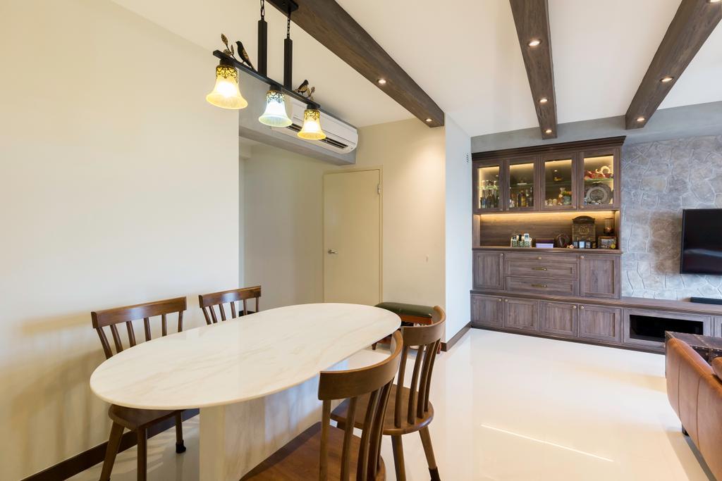 Contemporary, HDB, Dining Room, Bedok North Street 4, Interior Designer, Dyel Design