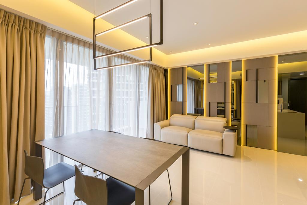 Contemporary, Condo, Living Room, Fernvale Close, Interior Designer, Design by Fifteen Pte Ltd