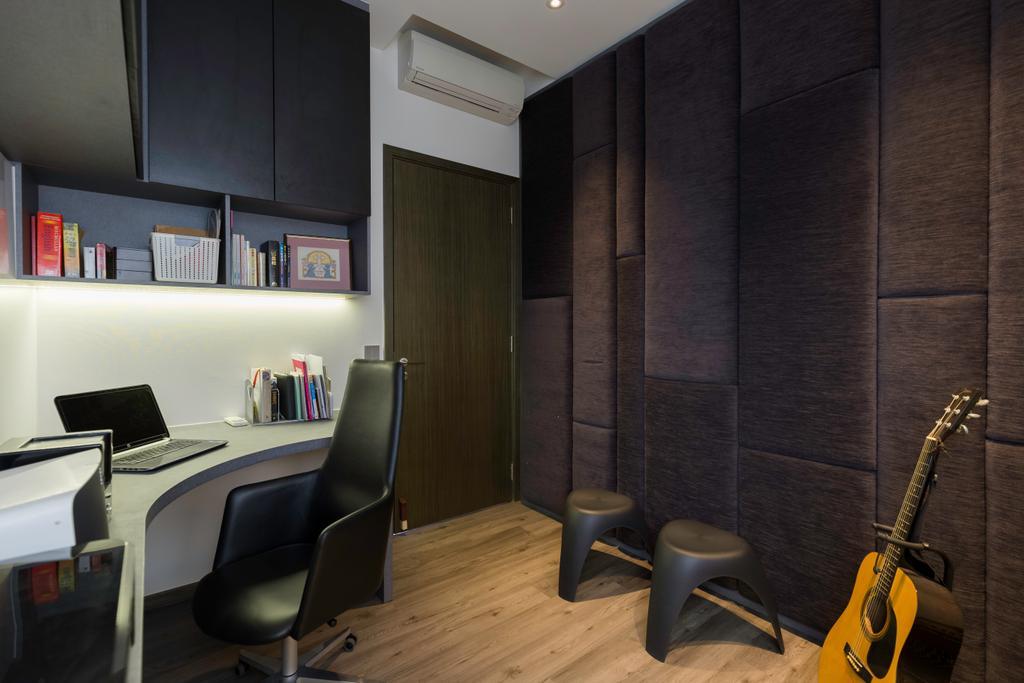 Contemporary, Condo, Study, Fernvale Close, Interior Designer, Design by Fifteen Pte Ltd
