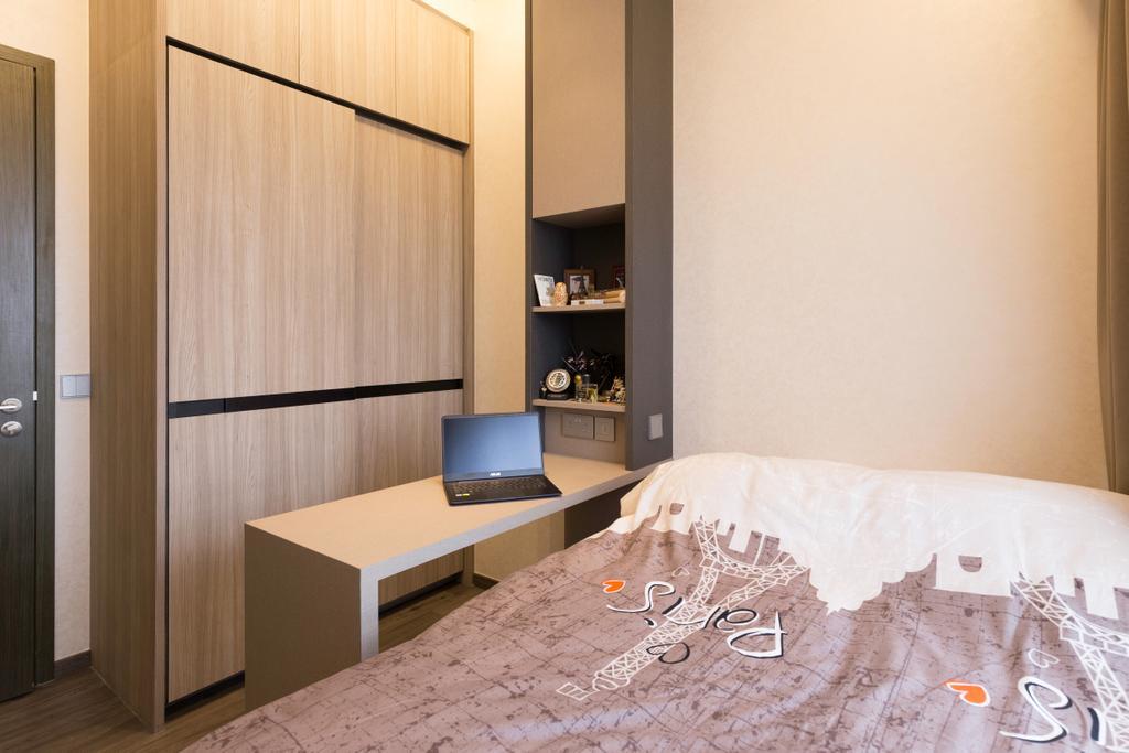 Contemporary, Condo, Bedroom, Fernvale Close, Interior Designer, Design by Fifteen Pte Ltd