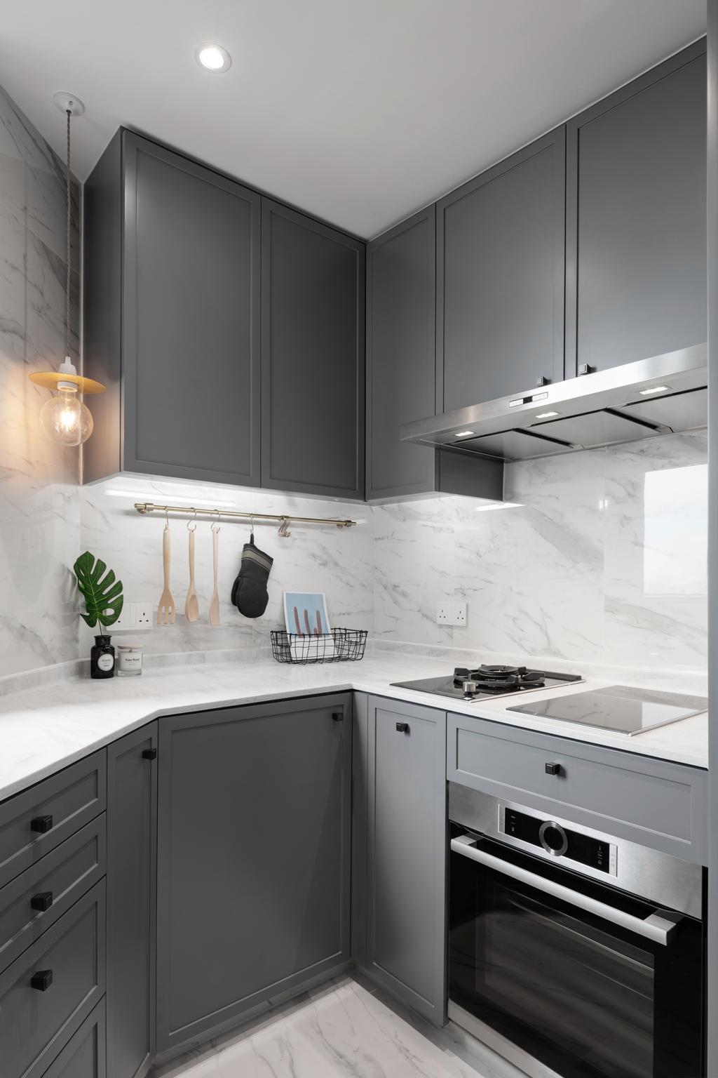 簡約, 私家樓, 廚房, 柏道2號, 室內設計師, N'creative, 摩登