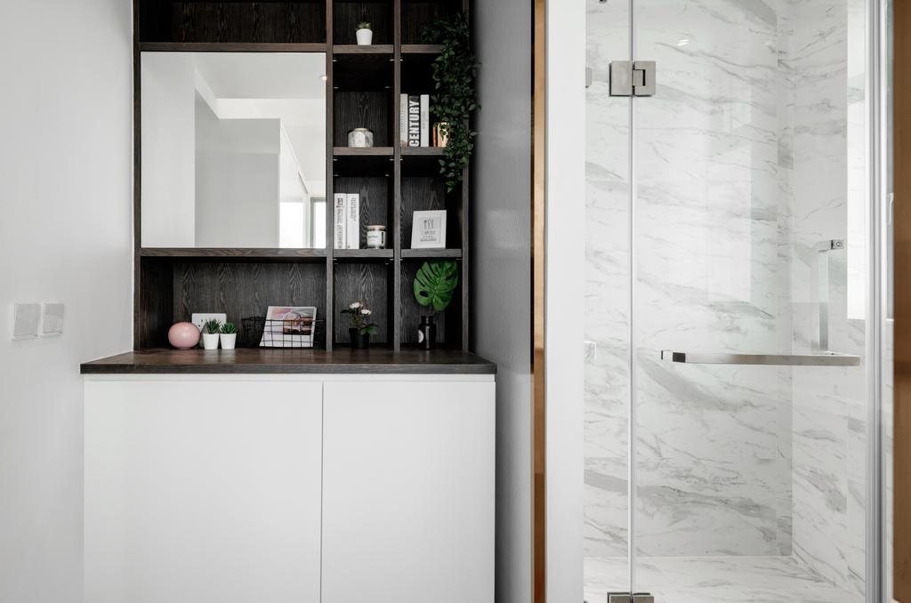 簡約, 私家樓, 浴室, 柏道2號, 室內設計師, N'creative, 摩登