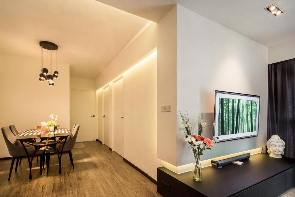 Modern, HDB, Dining Room, Punggol Way (Block 316), Interior Designer, Hygge Design, Minimalistic