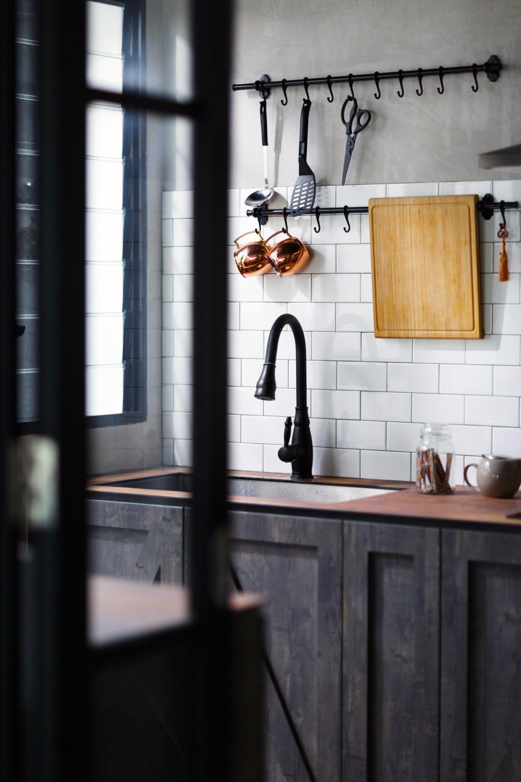 Contemporary, HDB, Kitchen, Upper Serangoon Road, Interior Designer, The Local INN.terior 新家室