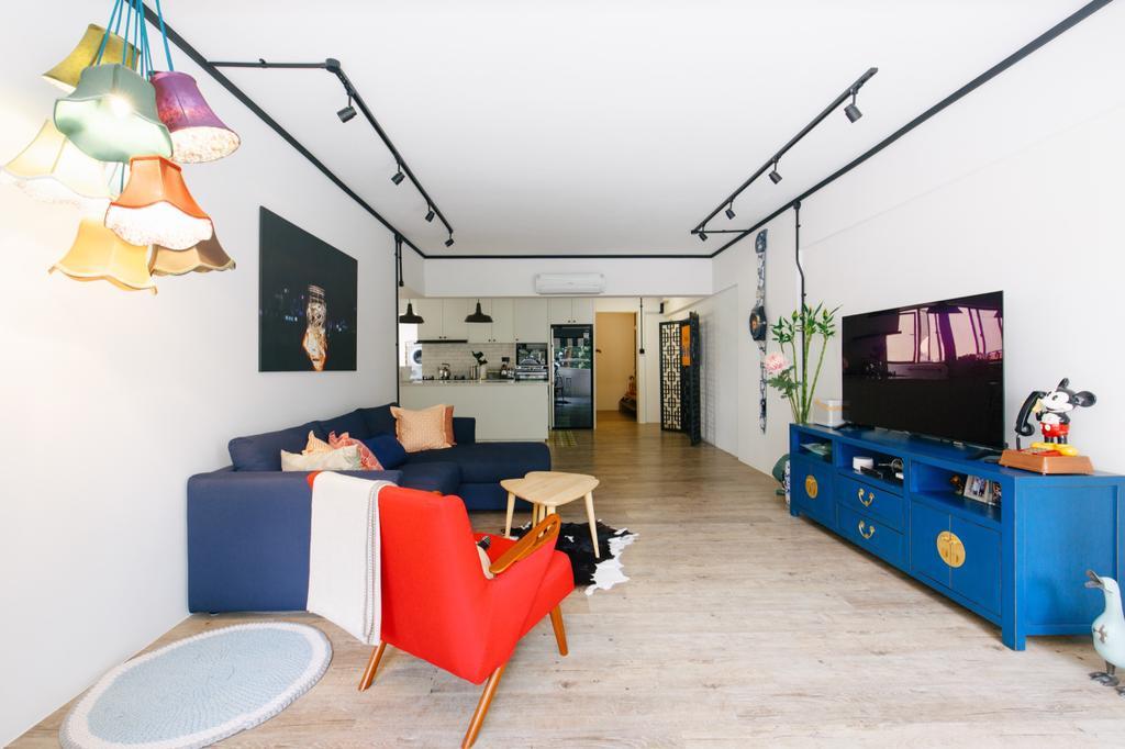 Contemporary, HDB, Living Room, Serangoon Avenue 3, Interior Designer, The Local INN.terior 新家室