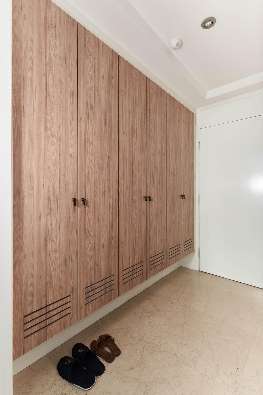 Contemporary, Condo, Living Room, The Spinnaker, Interior Designer, Escapade Studios, Shoe Cabinet, Entrance