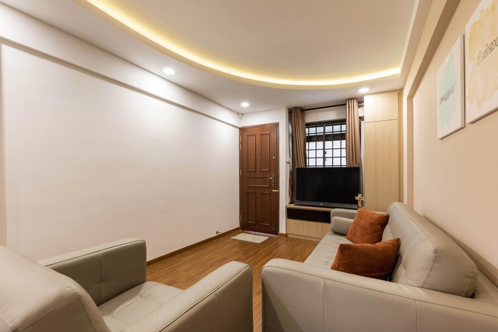 Modern, HDB, Living Room, Ang Mo Kio Avenue 5, Interior Designer, Omni Design
