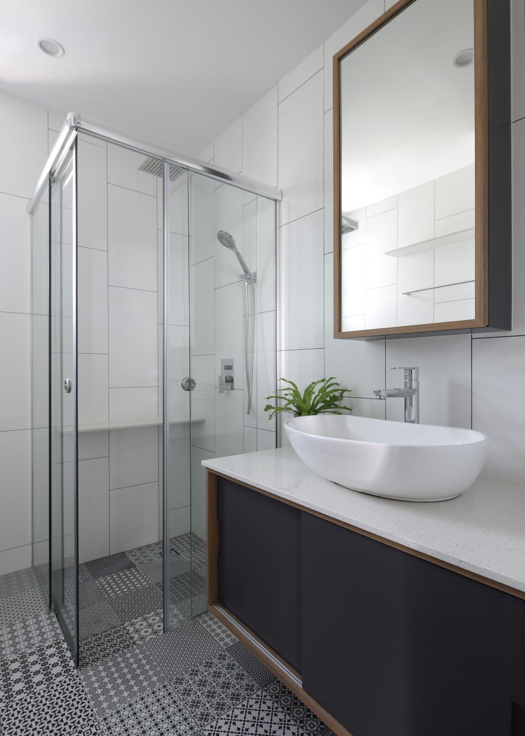 Minimalistic, Condo, Bathroom, Merawoods, Interior Designer, Versaform, Modern
