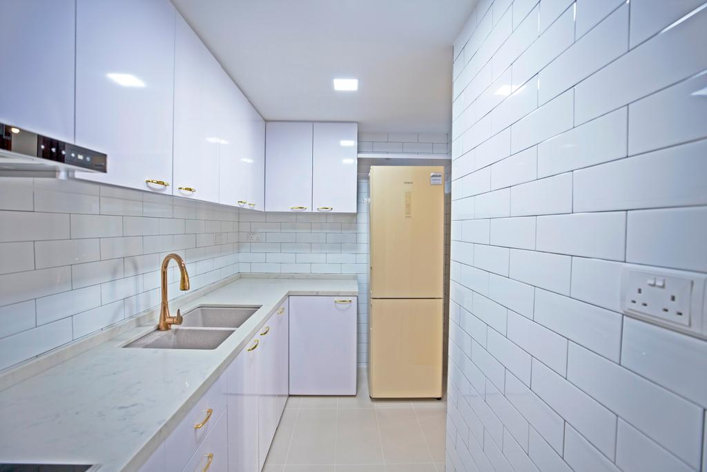 Contemporary, Condo, Kitchen, Sanctuary Green, Interior Designer, Renex Interior