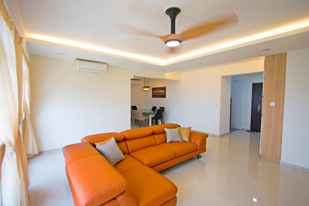 Contemporary, HDB, Living Room, Compassvale Crescent, Interior Designer, Renex Interior