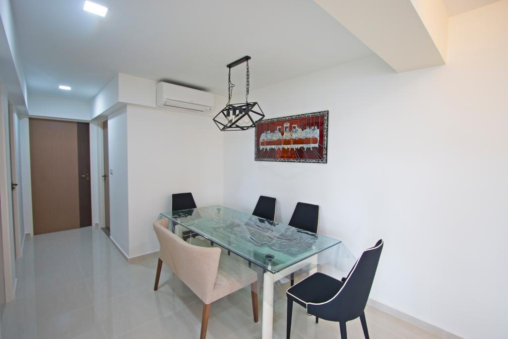 Contemporary, HDB, Dining Room, Compassvale Crescent, Interior Designer, Renex Interior
