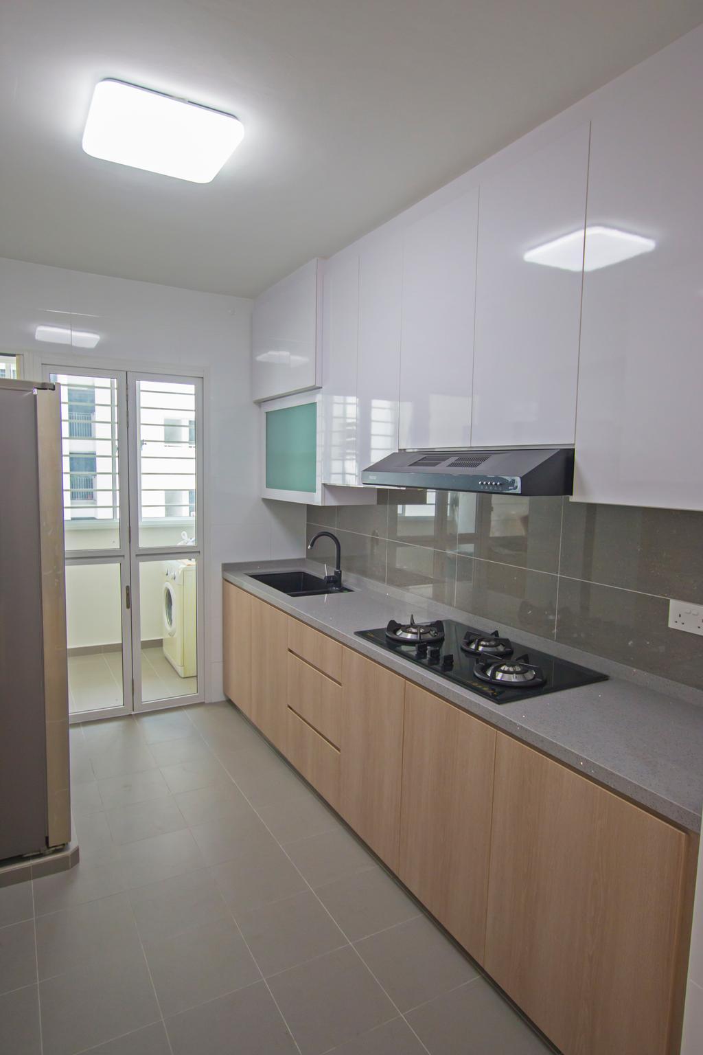 Contemporary, HDB, Kitchen, Compassvale Crescent, Interior Designer, Renex Interior