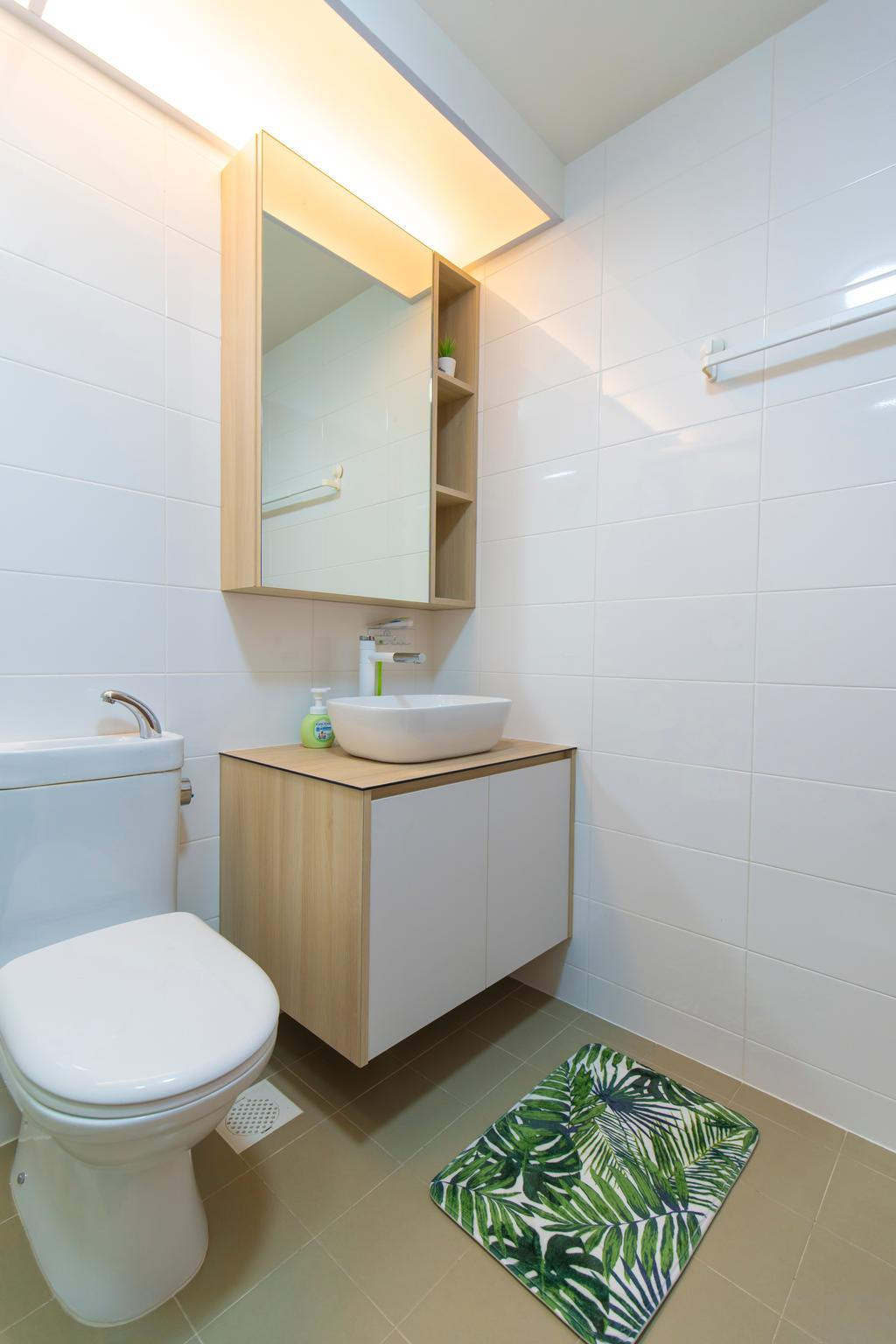 Contemporary, HDB, Bathroom, Bukit Batok, Interior Designer, Renex Interior