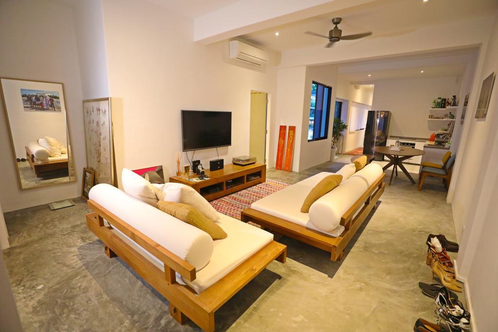 Industrial, Landed, Living Room, Kim Keat Close, Interior Designer, Renex Interior, Contemporary