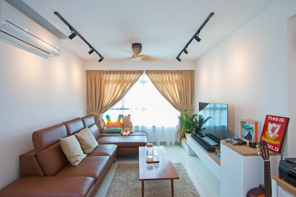 Contemporary, HDB, Living Room, Lorong Limau, Interior Designer, Renex Interior