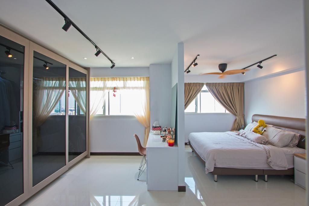 Contemporary, HDB, Bedroom, Lorong Limau, Interior Designer, Renex Interior