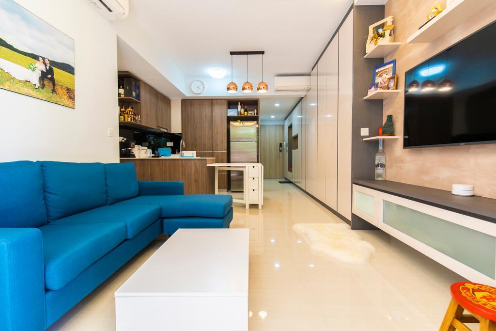 Contemporary, Condo, Living Room, Sol Acres, Interior Designer, Renex Interior