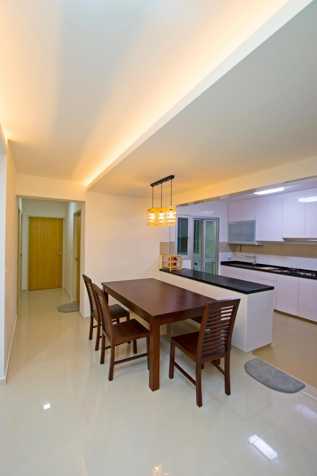 Contemporary, HDB, Dining Room, Upper Serangoon Road, Interior Designer, Renex Interior