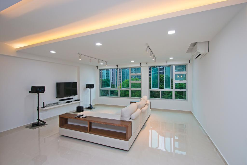 Contemporary, HDB, Living Room, Upper Serangoon Road, Interior Designer, Renex Interior