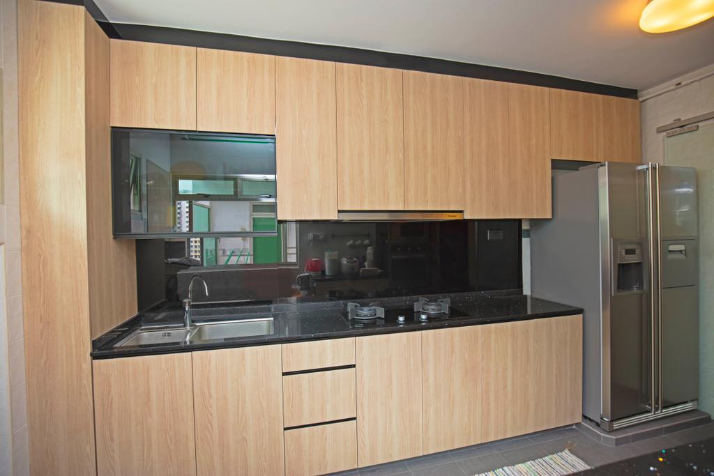 Contemporary, HDB, Kitchen, Punggol Field, Interior Designer, Renex Interior