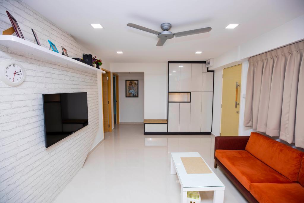 Contemporary, HDB, Living Room, Woodlands, Interior Designer, Renex Interior