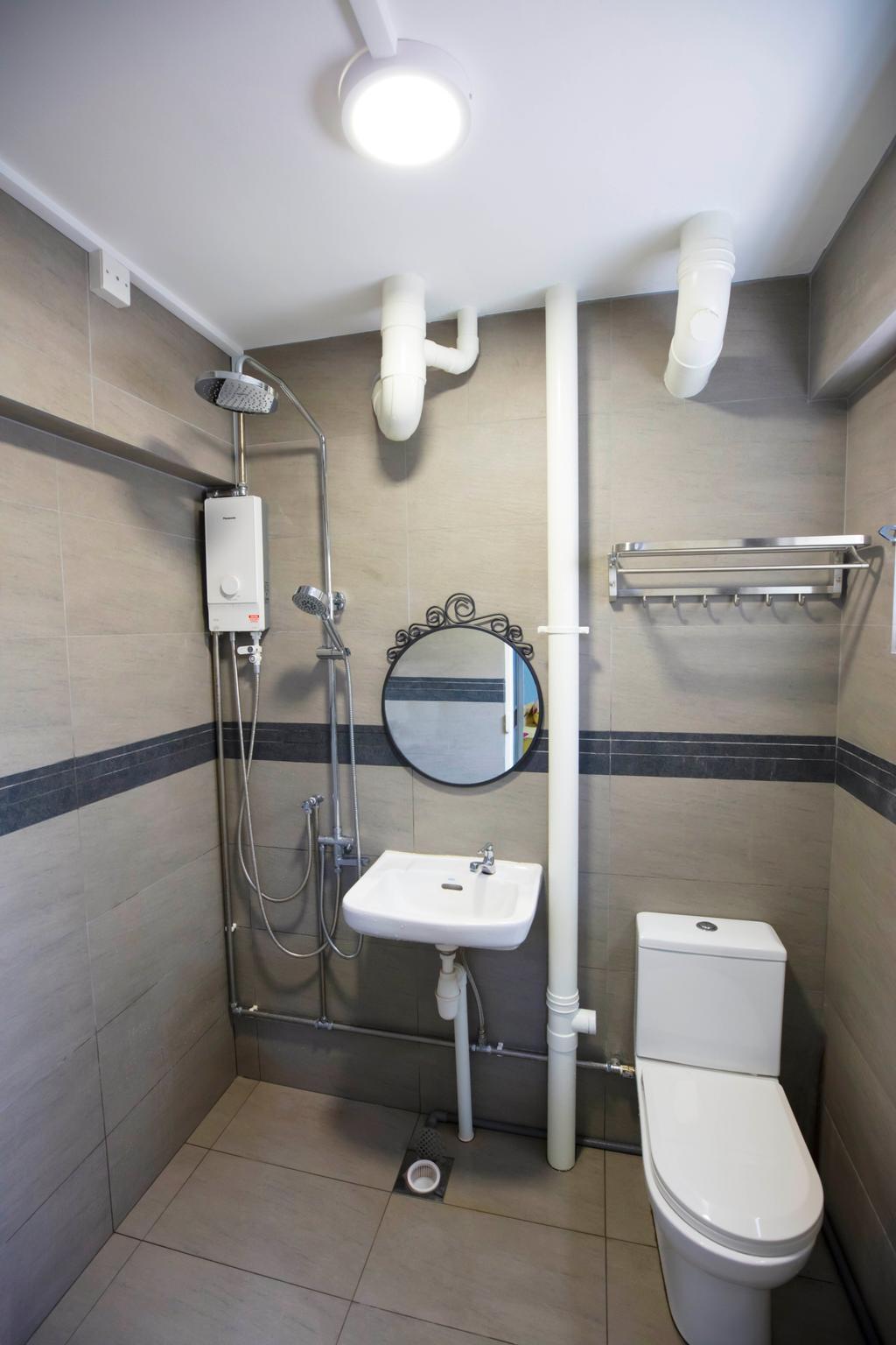 Contemporary, HDB, Bathroom, Woodlands, Interior Designer, Renex Interior