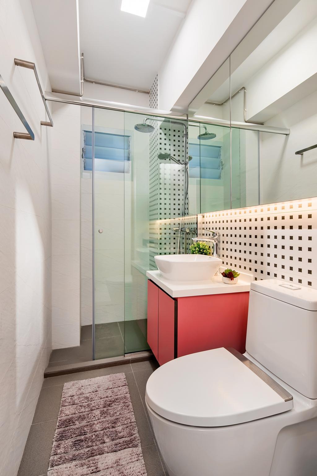 Contemporary, HDB, Bathroom, Mei Ling Street, Interior Designer, Anhans Interior Design