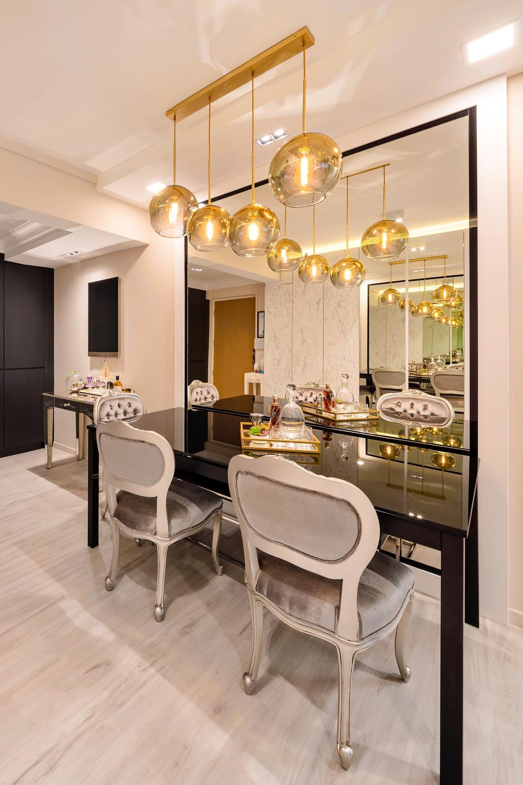 Contemporary, HDB, Dining Room, Mei Ling Street, Interior Designer, Anhans Interior Design