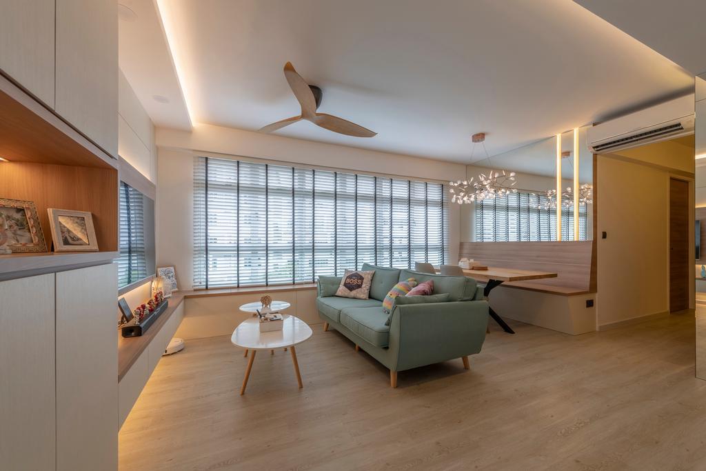 Scandinavian, HDB, Living Room, Bukit Batok East, Interior Designer, Control Space Design Studio, Contemporary