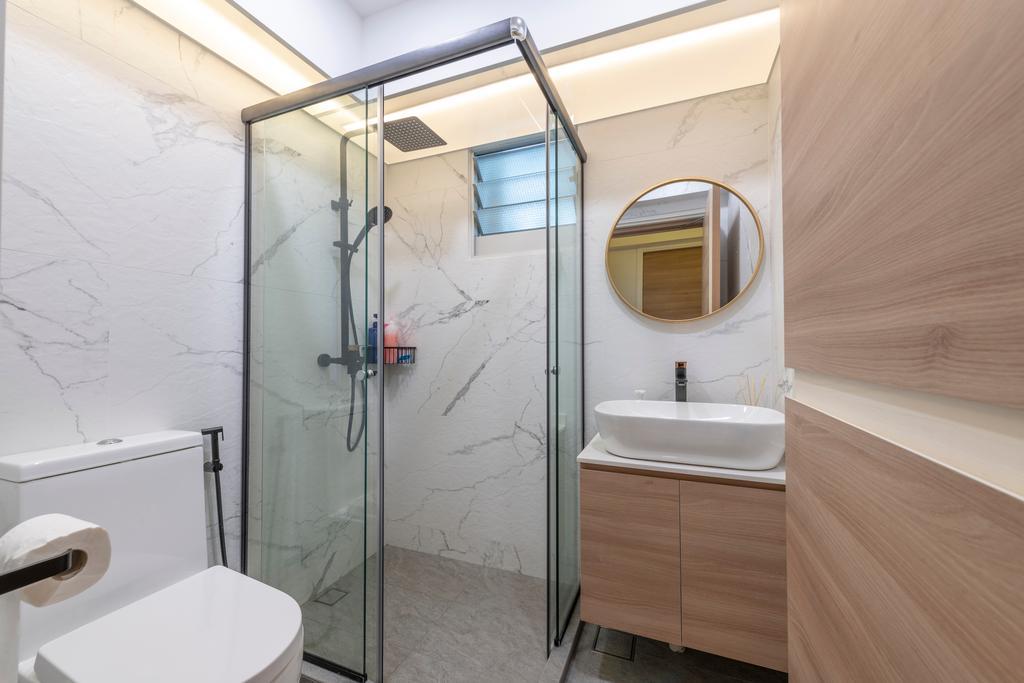 Scandinavian, HDB, Bathroom, Bukit Batok East, Interior Designer, Control Space Design Studio, Contemporary