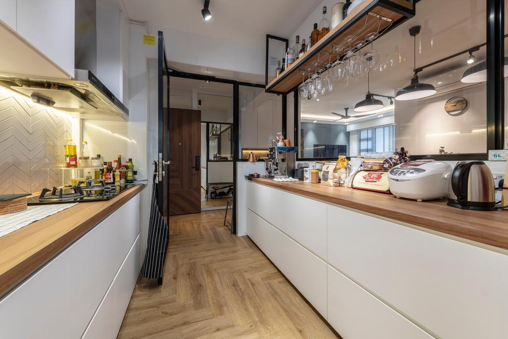 Contemporary, HDB, Kitchen, Ghim Moh Link, Interior Designer, Control Space Design Studio