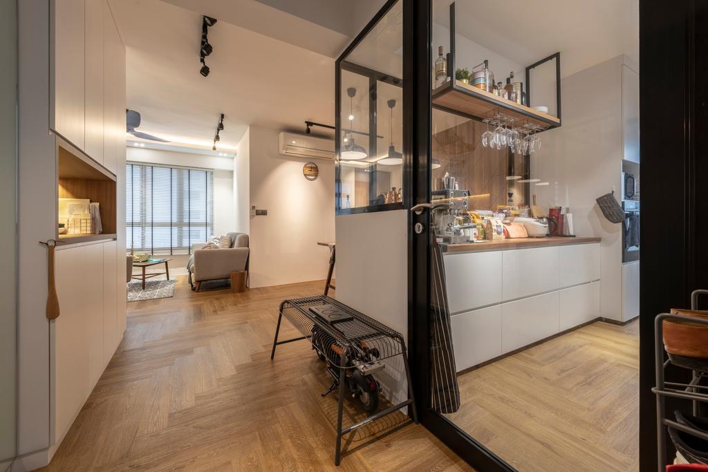 Contemporary, HDB, Living Room, Ghim Moh Link, Interior Designer, Control Space Design Studio
