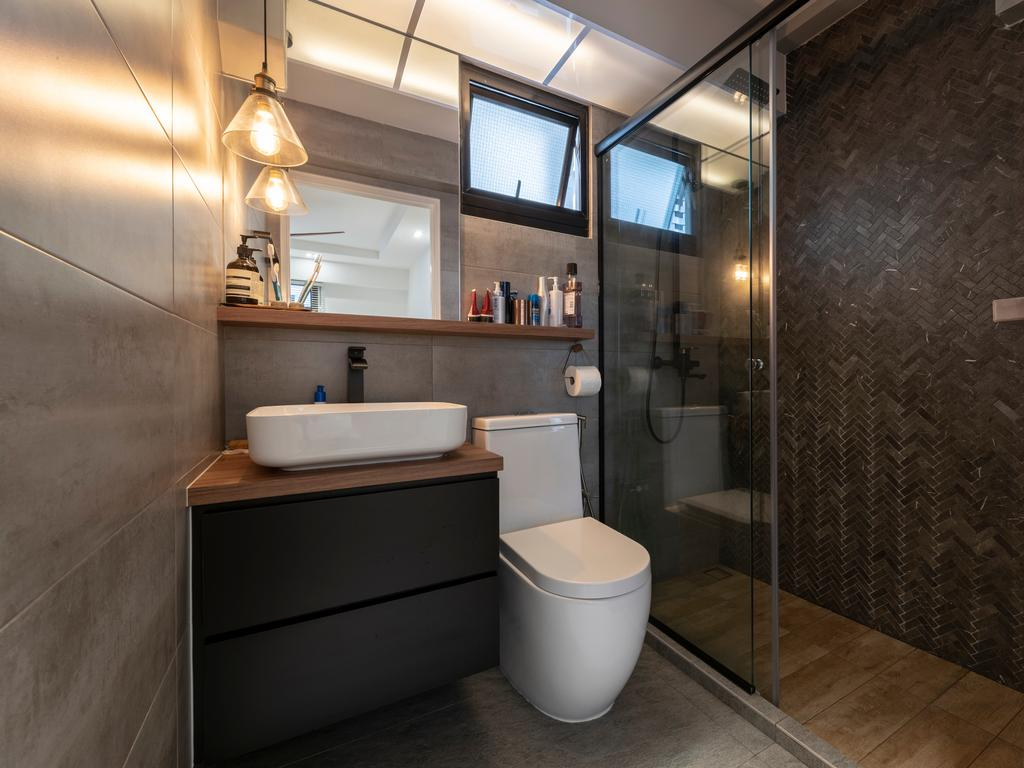 Contemporary, HDB, Bathroom, Ghim Moh Link, Interior Designer, Control Space Design Studio