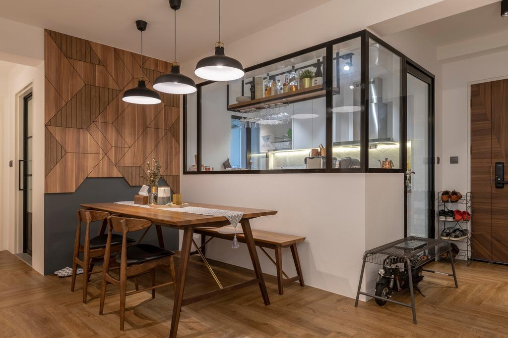 Contemporary, HDB, Dining Room, Ghim Moh Link, Interior Designer, Control Space Design Studio