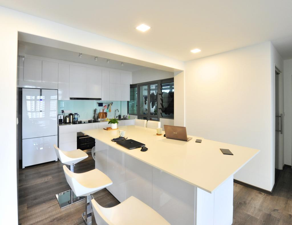 Contemporary, HDB, Kitchen, Punggol Way, Interior Designer, Omni Design