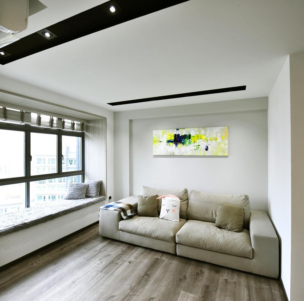 Contemporary, HDB, Living Room, Punggol Way, Interior Designer, Omni Design