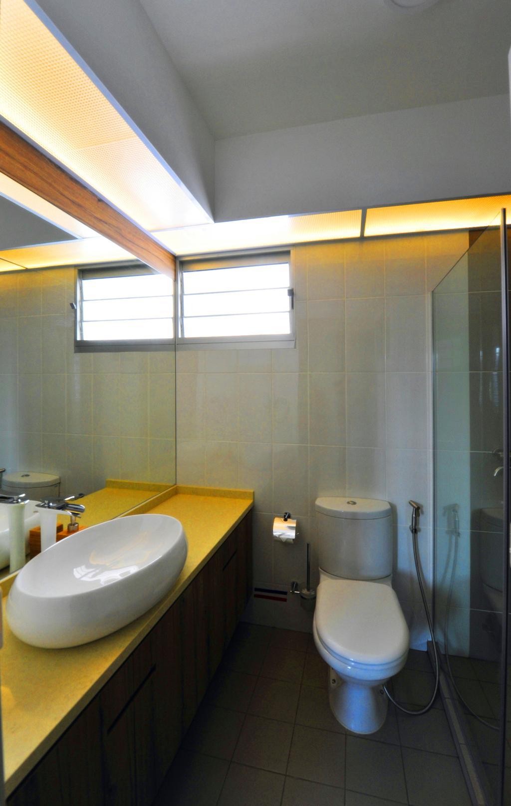 Contemporary, HDB, Bathroom, Upper Serangoon Crescent, Interior Designer, Omni Design