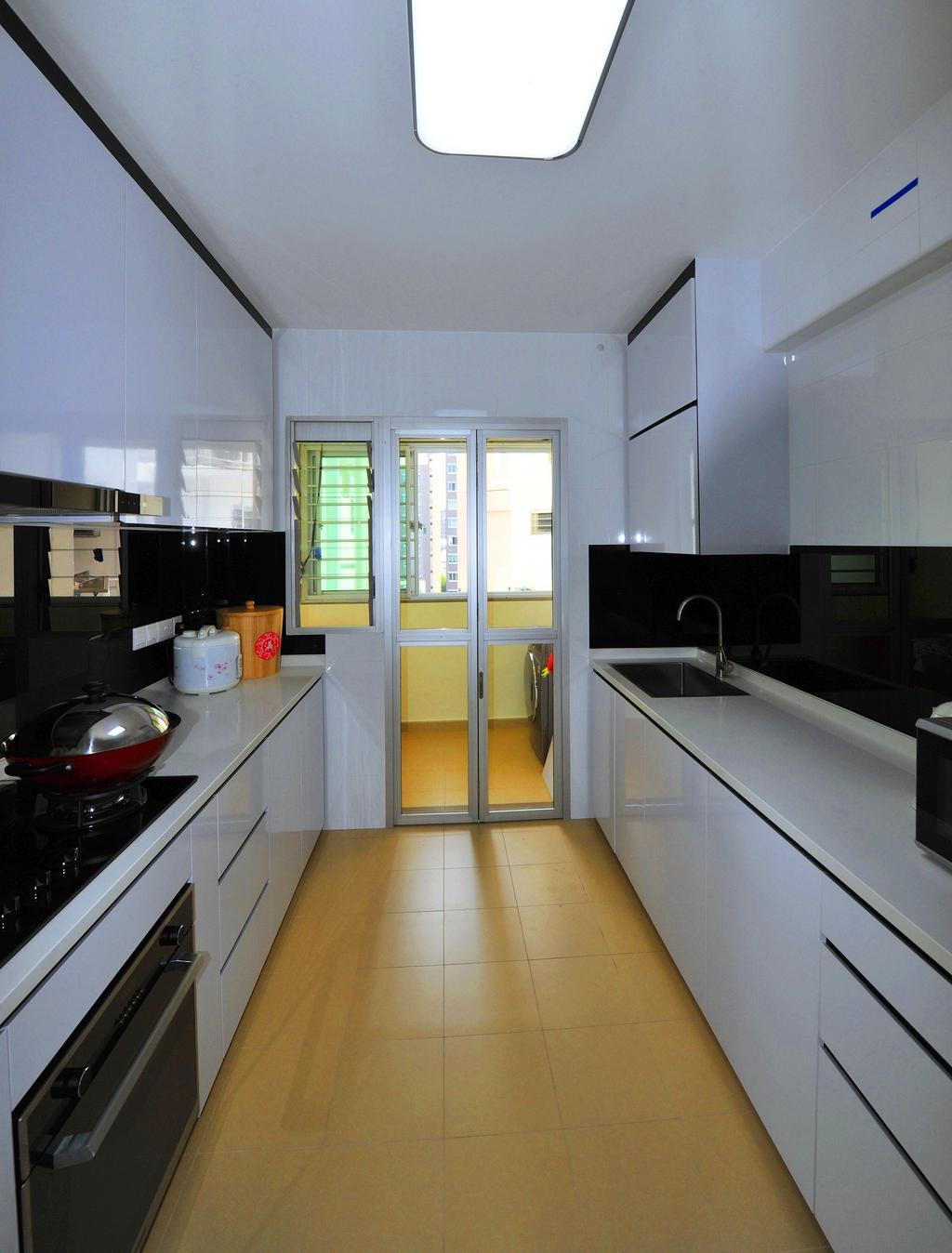 Contemporary, HDB, Kitchen, Upper Serangoon Crescent, Interior Designer, Omni Design