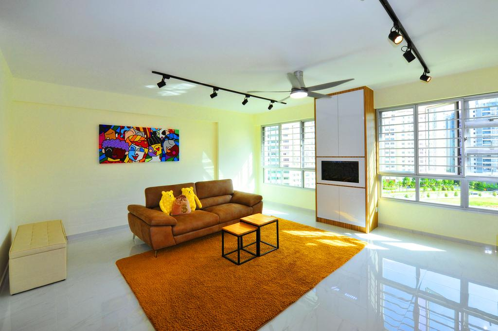 Contemporary, HDB, Living Room, Upper Serangoon Crescent, Interior Designer, Omni Design