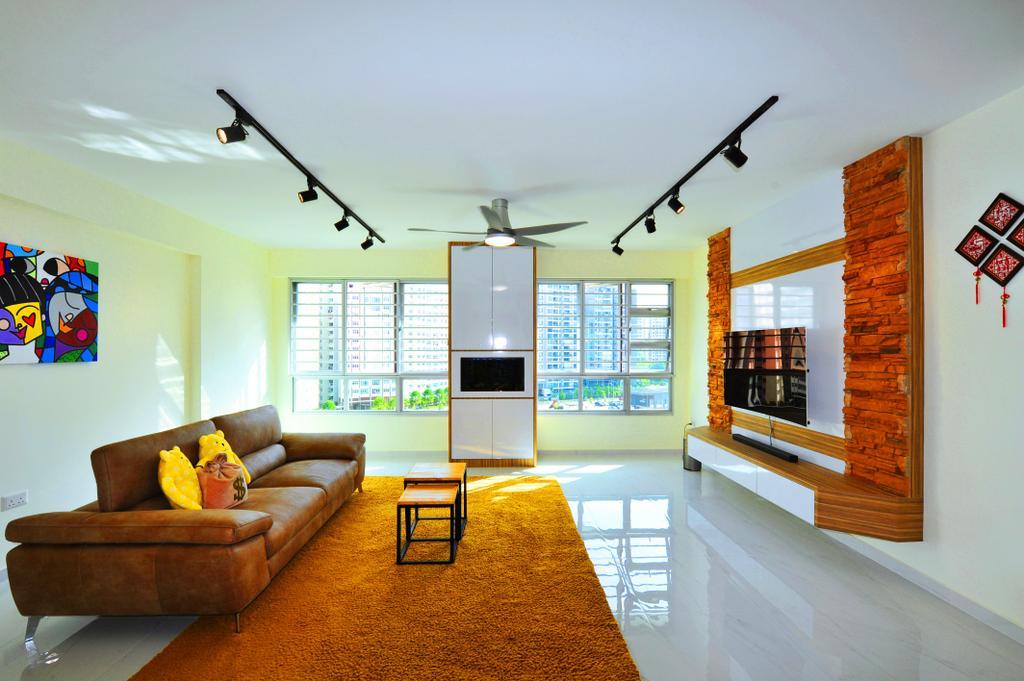 Contemporary, HDB, Living Room, Upper Serangoon Crescent, Interior Designer, Omni Design