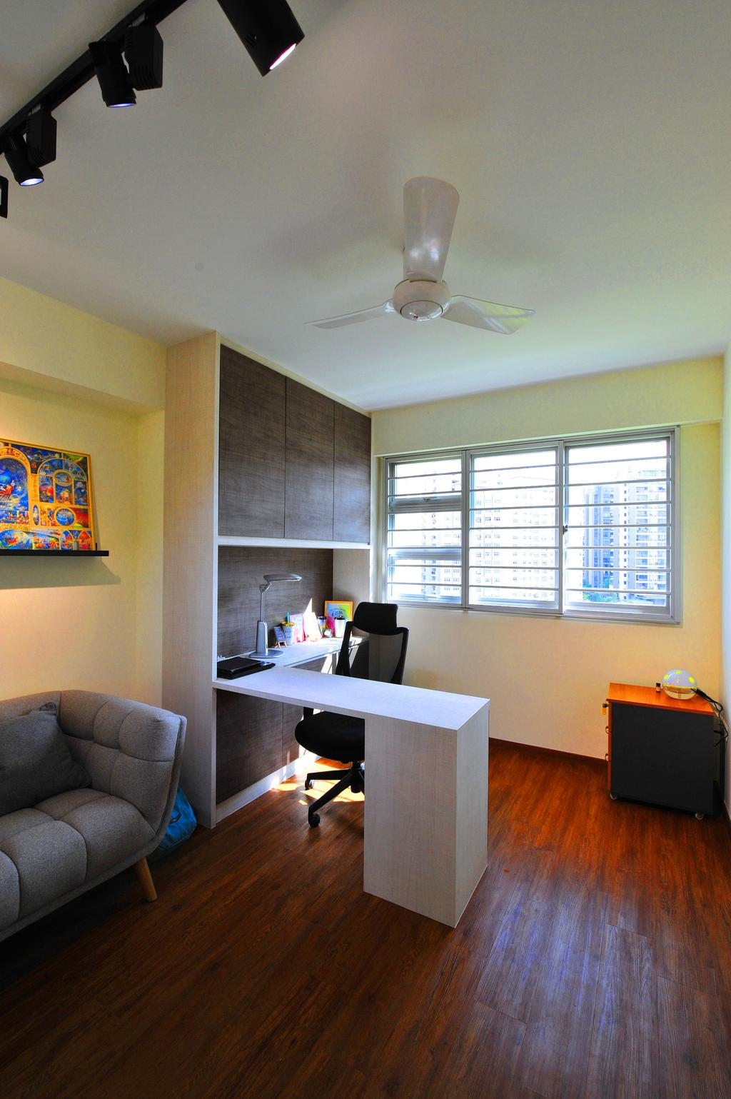 Contemporary, HDB, Study, Upper Serangoon Crescent, Interior Designer, Omni Design