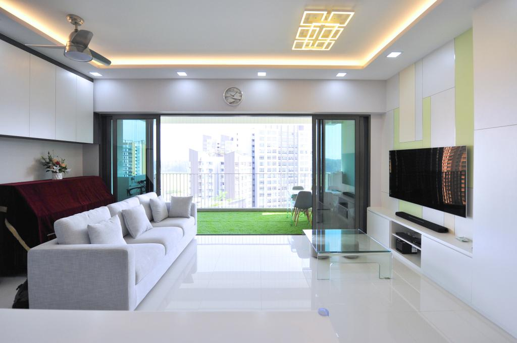 Contemporary, Condo, Living Room, The Terrace, Interior Designer, Omni Design