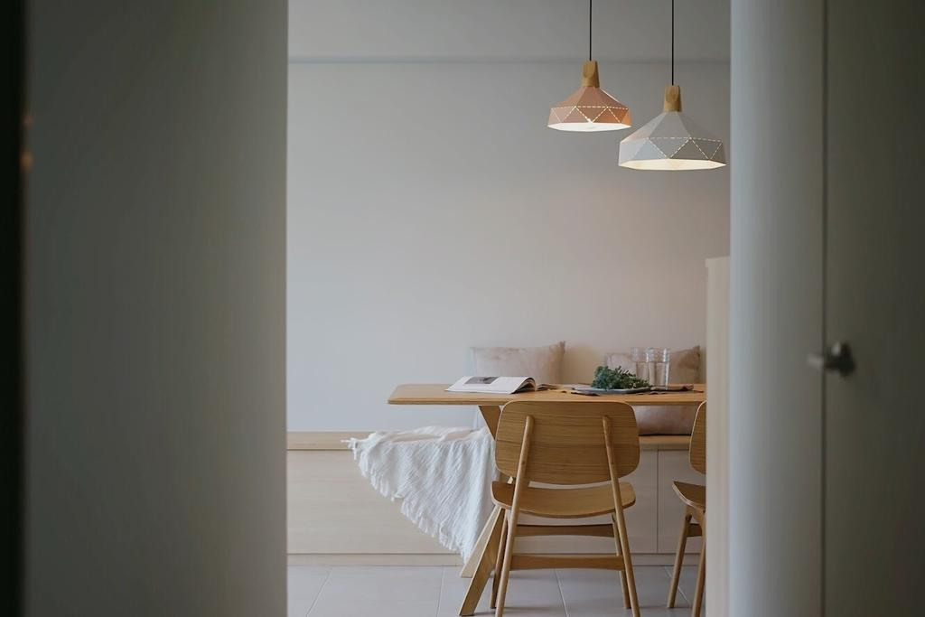 Minimalistic, HDB, Dining Room, Punggol Central, Interior Designer, Authors • Interior & Styling